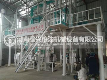 驻马店30吨面粉机械安装案例